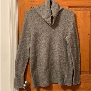 Grey turtleneck sweater from Aritzia